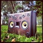BoomCase Gator Cassette Tape Old School BoomBox Retro Yellow Speakers