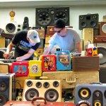 boomcase boombox vintage dj speaker falcons music crazy