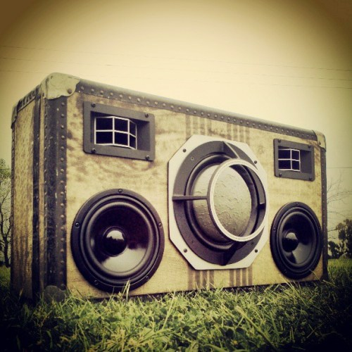 DeathStar BoomCase Vintage Trunk Suitcase Woofer BoomBox Best Loud