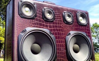 BoomCase Gator Cassette Tape Old School BoomBox Retro Speakers