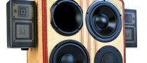TechBot boomCase crazy vintage boombox woofers bass