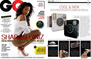 GQ Magazine BoomCase Instagram Camera Portugal sharam diniz model