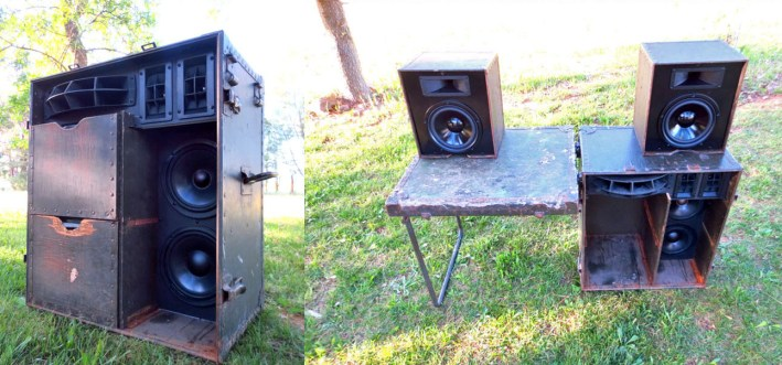 DJ Booth BoomCase Vintage Mobile Booth Audio System PA Suitcase Bass