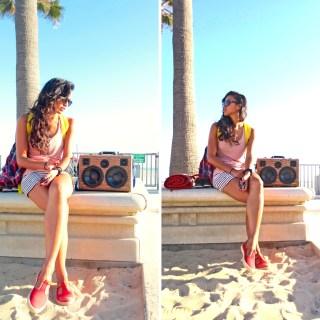 Summer Beach Sand BoomCase Girl Legs Shades BoomCase BoomBox Venice Beach California