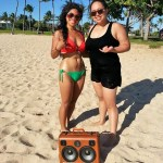 Hawaii BoomBox Bikini Island Life Beautiful BoomCase Sand Beach Palm Trees