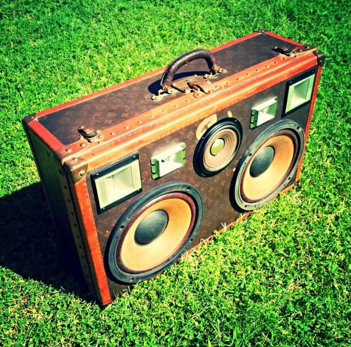 Louis Vuitton vintage suitcase boombox boomcase bruno mars luxury awesome rare LV