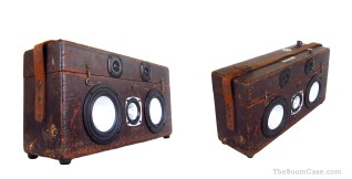 wood boombox vintage toolbox boomcase tool box old wood rope Vintage BoomBox Speaker Bruno Mars Suitcase