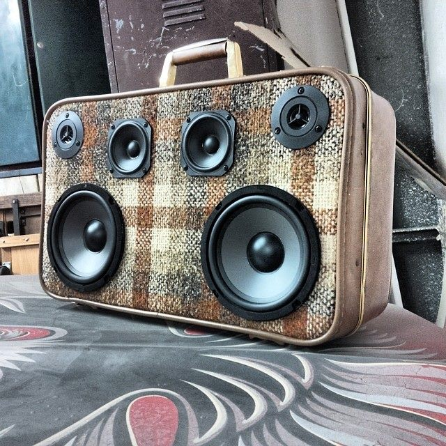 Red Plaid BoomCase Adidas Tartan BoomBox New Store OWN Pacific Northwest Oregon Suitcase BoomBox