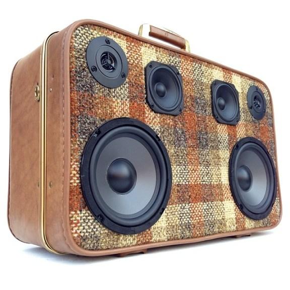 invicta custom 70s Red Plaid BoomCase Adidas Tartan BoomBox New Store OWN Pacific Northwest Oregon Suitcase BoomBox