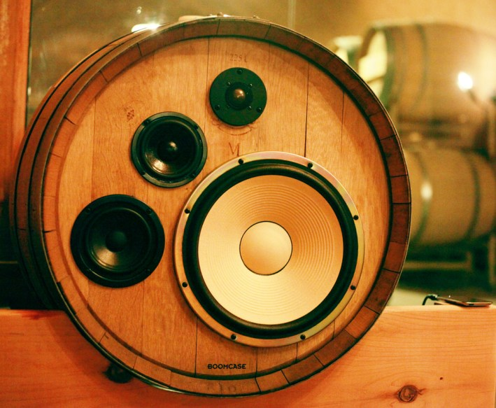 Benziger Winery BoomCase Barrel Speaker Wireless Wine Barrels Bluetooth Speakers Wine Cave Sonoma Glen Ellen California Napa Wine Country
