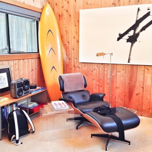 Eames BoomCase Chair Surf Wood Coastal Beach Ocean House Retro Modern
