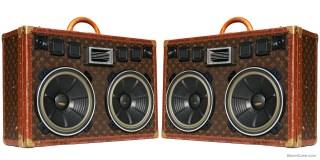 louis vuitton boomcase boombox trunk suitcase vintage custom speaker system sound home decor design