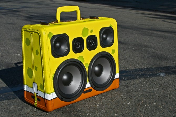 SpongeBob SquarePants BoomBox BoomCase Girafa Artist Painted Speaker Portable Bluetooth Bay Area Graf