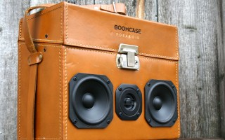 Polaroid Camera Bag Vintage Leather BoomBox BoomCase Speaker Portable Bluetooth Retro
