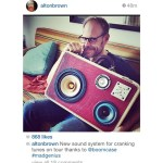 AltonBrown Live BoomCase BoomBox Retro Speaker Blaster Red Gator Bluetooth Portable