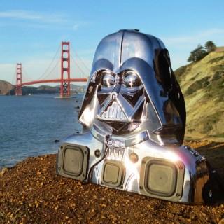Darth Vader Dark Side BoomBox Retro Toy BoomCase Chrome Star Wars Speaker Bluetooth