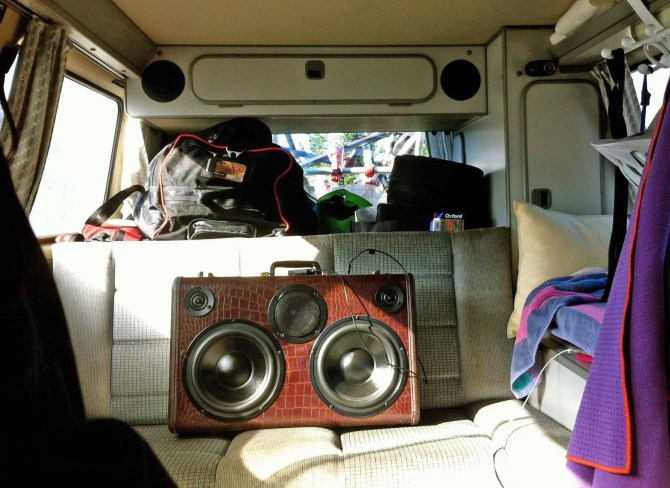 Westfalia Beach Malibu Speaker BoomBox Miami Beach Florida Ultra Music Festival Hawaii BoomBox Bikini Island Life Beautiful BoomCase Sand Beach Palm Trees Sunset