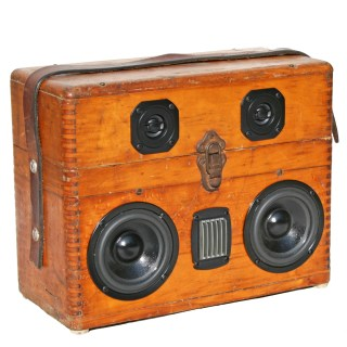 Wooden BoomBox BoomCase Leather Strap Vintage Wood Box Bostrom Surveyor Speaker Bluetooth Portable Loud Best