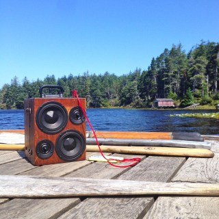 Lake Side BoomBox Sound Music Party Speaker Bluetooth Oregon BoomCase Wooden Wood handmade speakers