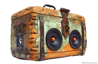 Pirate Wooden BoomBox Vintage BoomCase Wood 1800s Toolbox UK Australia