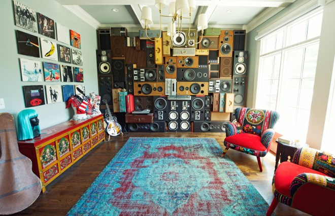 Speaker Wall Vintage Speakers Wall of Boom of Sound Nashville Music City BoomCase BoomBox Retro SpeakerWalls