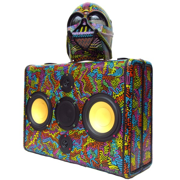 Darth Vader BoomCase Artist Painted BoomBox Bright Colors