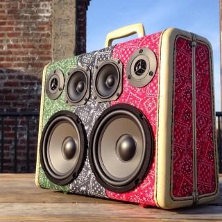 bandana fabric custom boombox boomcase deadprez