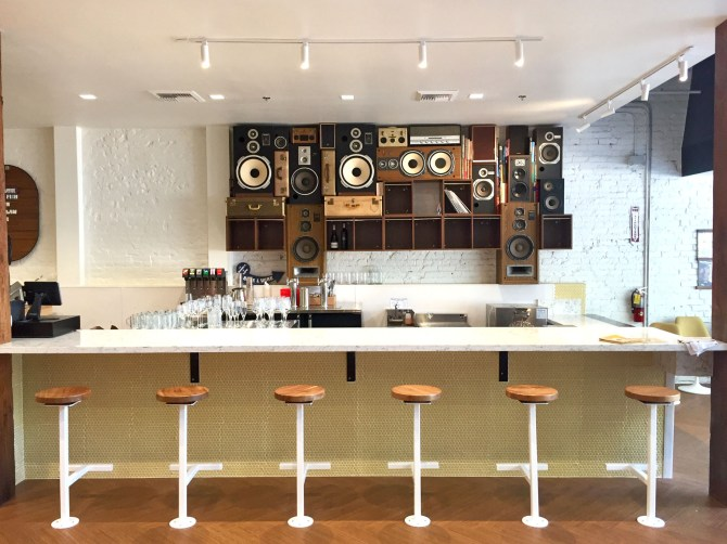 Speaker Wall of Sound by BoomCase in Solomons Deli