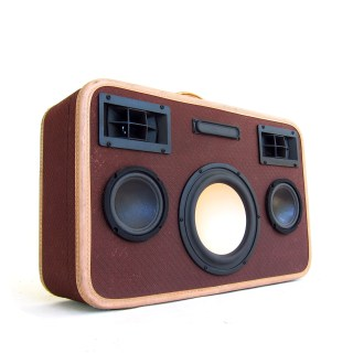 belber vintage suitcase boombox boomcase bluetooth speaker