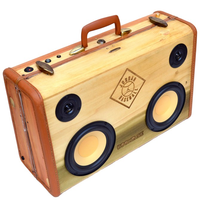 Jordan Brand BoomBox by BoomCase - Wood Laser Air Jordan Retro BoomBox