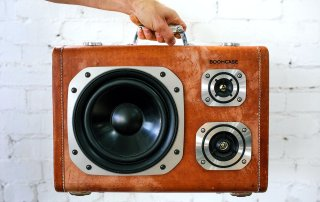 Vintage Suitcase Speaker BoomBox Wheary BoomCase