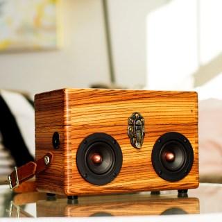 zebra wood box boom box vintage suitcase boombox speaker