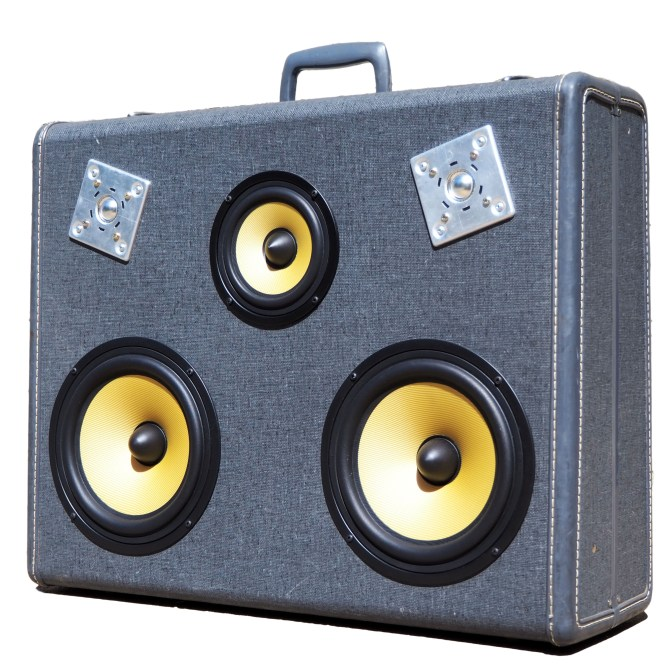 Vintage Suitcase BoomBox BoomCase Speaker Bluetooth
