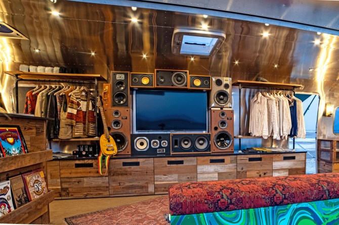 Garcia Hand Picked BoomCase Speaker Wall of Boom Vintage Speakers BoomBox Airstream Salt Flats