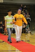 Freshman Kevin Zhang and his escort Sophomore Shelby Sandlin