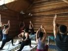 Morning Yoga at Ski Trip #Telluridindirty