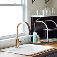 Kitchen Sink Paint Faucet Commercial Style Diy Renovation Reveal Black And Brass Brackets