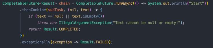 exception handling CompletableFuture
