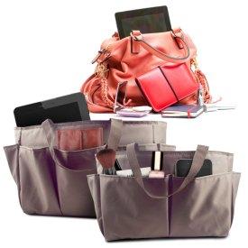 Handbag Organizers in brown