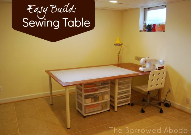 places to borrow tables and chairs rocking dildo chair cheap easy build a large or tiny sewing crafting table the diy borrowed abode