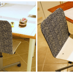 Ikea Jules Chair Billiard Spectator Chairs Easy Diy Slipcover For Desk The Borrowed Abodethe