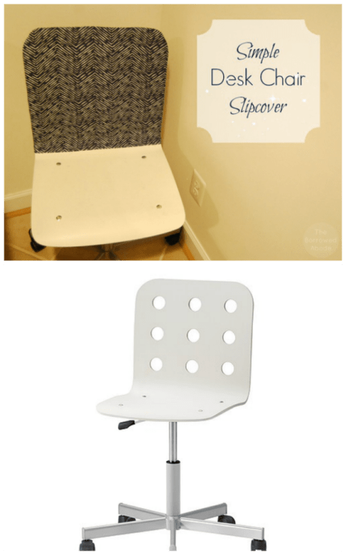 simple desk chair best camping chairs easy diy slipcover for ikea jules the borrowed abodethe