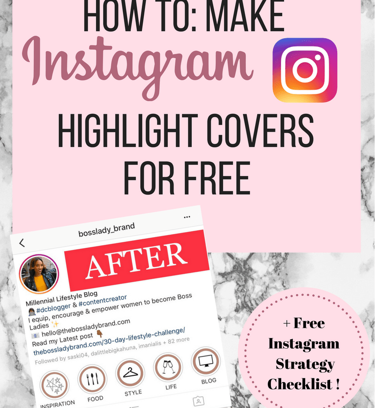 Instagram Story Highlight Covers: How to make them for Free