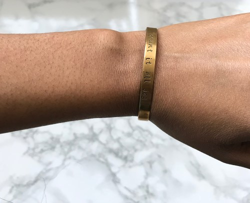 Last minute gift ideas for mom: Hand Stamped Bracelet