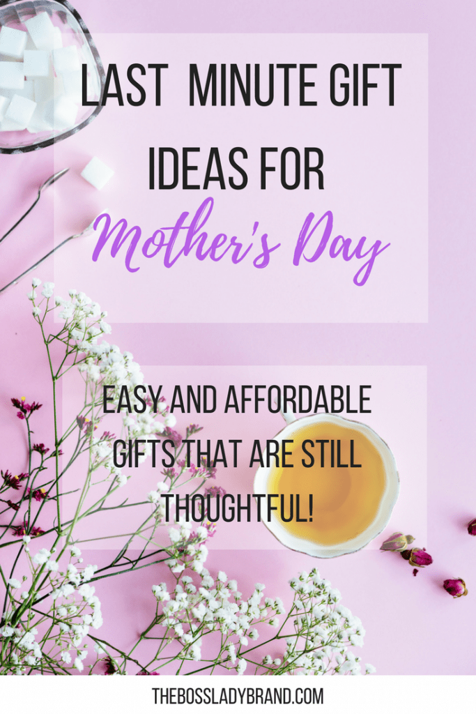 Mother's Day and Birthday's always come up so fast! If they rolled up on you, here are some easy Last minute gift ideas for mom that she will love! These are also affordable gifts for her that are still thoughtful. #giftguide #giftsformom