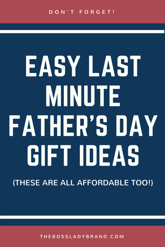 Easy Last minute Father's Day Gift Ideas #giftguide #fathersday #giftsforhim #giftsfordad