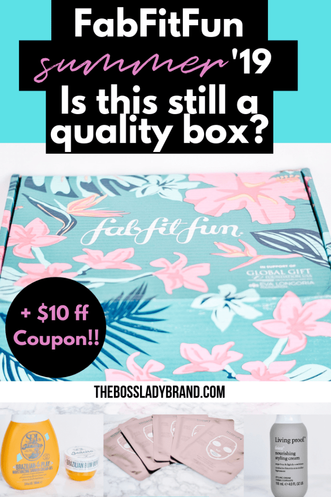 The FabfitFun Summer 2019 Box has been out and here is what came in the box and a review of the FabfitFun Summer Box. The code for $10 off is also included! #fabfitfun #subscriptionbox