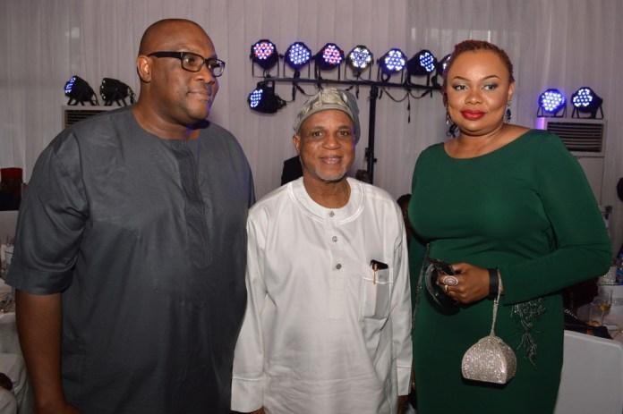 Biodun Shobanjo (middle) with Mr. John & Mrs. Mary Iwelumo