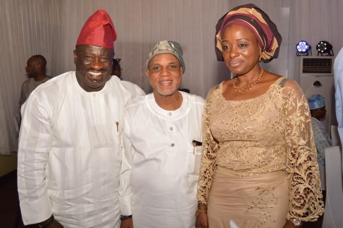 Celebrant with Mr. & Mrs. Tayo Ayeni