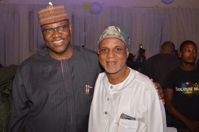 Chief John Momoh with Mr. Biodun Shobanjo